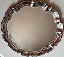 2, VINTAGE, CRUSADE SILVER PLATED / A DIAMOND SHAPE SERVING DISH, CIRCA : 1970'S