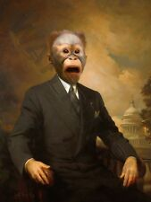 BUSINESS MONKEY IN SUIT PRINT ONLY ART POSTER HP3672