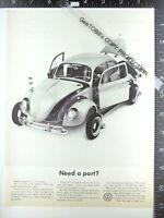 2 ADS 1965 VW Volkswagen bug Beetle disassembled Need A Part, Porsche motor 1964