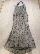 Linea Raffaelli Evening Wedding Prom Dress size 42, uk 12-14. Metallic Gold/oliv