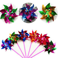 10pcs Colorful Plastic Pinwheel Wind Spinner windmill Wedding Kid Party Supplies