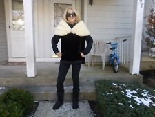 INCREDIBLE VINTAGE 50'S  LUXURY *JASMINE EMBA* WHITE MINK STOLE/CAPE/SHRUG/WRAP