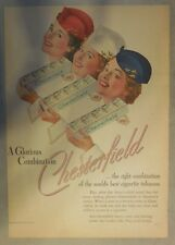 Chesterfield Cigarette Ad: A Glorious Combination ! Tabloid Page 1939