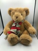 Official Russ Berrie Brock Brown Teddy Bear Scarf Plush Kids Stuffed Toy Animal
