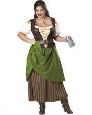 Renaissance Medieval Tavern Maiden Adult Womens Fancy Dress Oktoberfest Costume 1x