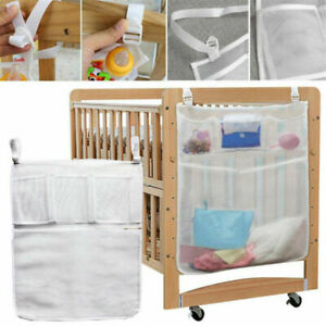 1pc Baby Crib Cot Bedside Hanging Storage Bag Diaper Nappy Clothes Organizer