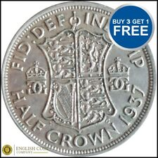1937 TO 1946 GEORGE VI SILVER HALF CROWNS CHOICE OF YEAR / DATE