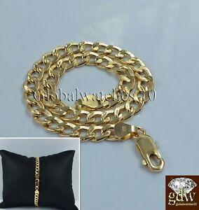 REAL 14k Men Gold Cuban Link Bracelet 8 inch Strong Link