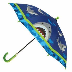 NEW Stephen Joseph Childrens Shark Umbrella Kids Boys Rainproof Sunshade