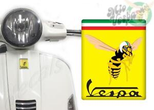 Front Badge Overlay Mio Vespa Logo on Yellow 3D Decals sticker Gts Gt ET PX