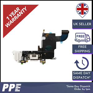 For iPhone 6S White Premium Charger Port Connector Flex Cable Replacement Parts