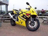 R&G RACING Crash Protectors - Suzuki GSXR600/750  K4-K5  **BLACK**