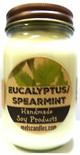 Eucalyptus and Spearmint 16oz Jar Soy Candle Wholesale Scented Candles