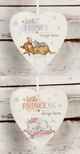 Disney Little Prince Princess Sleeps Here  Bambi  or Marie Hanging Heart  Plaque