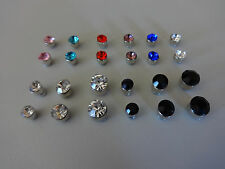 1x Magnet Kristall Crystal OHR EAR Fake Magnetic CLIP Plug 4-6 mm Cheater Tunnel