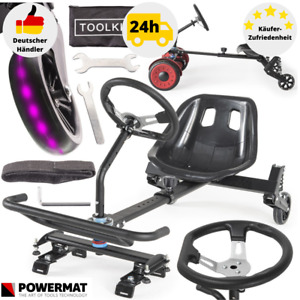 Sitzscooter Hoverkart Hoverseat Hoverboard Kartsitz Scooter LED-Rad E-Scooter