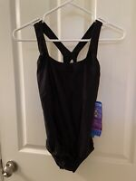 Speedo Black Moderate Ultraback Powerflex Performance Swimsuit Women's Sz 10 NWT