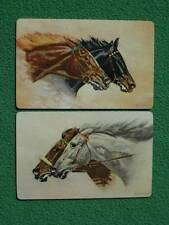 Beautiful Horses Racing or Running Really Old Art 1940 Swap Cards by Arrco MINT!