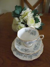 ROYAL ALBERT BONE CHINA SILVER MAPLE TRIO 1st