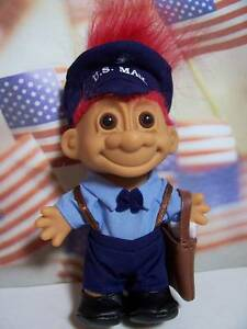 "U.S. MAILMAN - 5"" Russ Troll Doll - NEW IN ORIGINAL WRAPPER"