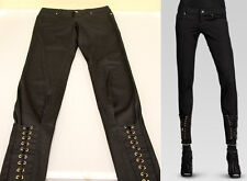 $795 NEW Authentic Gucci Runway Womens Lace Up Skinny Pants Legging Jeans sz 38