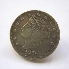 Stunning 1938 Victorian Coin 925 Silver Nyonya Peranakan Designer Coin Buckle
