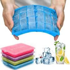 4X Silikon Eiswürfelform Cube Eiswuerfelbehaelter Mit Deckel Ice Tray Ice