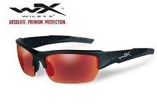 Wiley X Valor Black 2-Tone Frame Polarized Crimson Mirror Lens CHVAL05