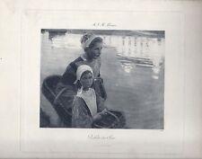 Auguste Leroux - Reflets de Soir - tirage argentique - Moglia et Cie Paris