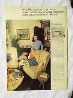 1970 Magazine Advertisement Page Sears Kenmore Sewing Machine Jeanne Crain Ad