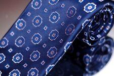 Lord R Colton Prestige Men's Tie Sapphire Blue Seven Fold Woven Silk Necktie New