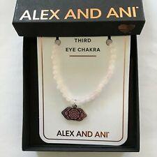 Alex and Ani Third Eye Chakra Rose Quartz Beaded Charm Stretch Bracelet