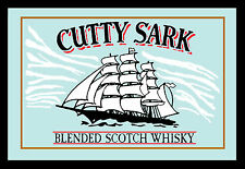 Cutty Sark Scotch Whisky Ship Nostalgie Barspiegel Spiegel Bar Mirror 22 x 32 cm