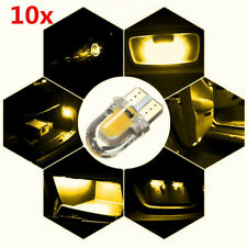 10x T10 194 168 W5W COB 8 SMD LED CANBUS Silica Bright Yellow License Light Bulb