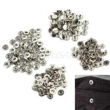 50 Pcs Silver Tone Stud Metal Snap Press Buttons No Sewing Fasteners 10mm Hot