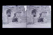 France Bretagne ? Photo Amateur Plaque de verre stéréo NEGATIF vers 1925