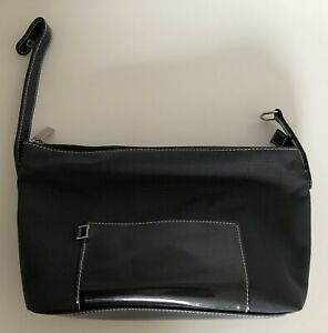 New Estee Lauder Cosmetic Makeup Bag Travel Train Case With handle – Dark Gray