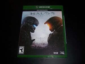 Replacement Case (NO  GAME) HALO 5 GUARDIANS XBOX ONE 1 XB1 ORIGINAL