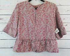 Elie Tahari Suri Jacket Candlelight Blazer Suit Womens Sz 12 Pink Floral $468
