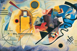 Jigsaw Puzzle Work of Art Abstract Yellow Red Blue Wassily Kandinsky 1000 pc NEW