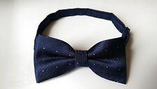 UK Seller dot spotty navy blue formal boys kids bow tie NEW  aged 5-10 yr old