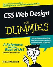 CSS Web Design for Dummies, Good Condition Book, Mansfield, Richard, ISBN 978076