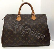 Louis Vuitton Speedy 35! Monogram Leather carry-all