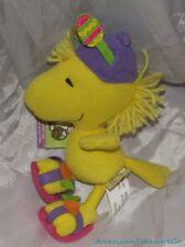 "Retired Plush 8"" Peanuts Gang Baby Soft Winter Woodstock w/Earmuffs & Sewn Eyes"