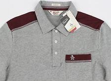 Men's PENGUIN Gray Grey Maroon Polo Shirt Small S NWT NEW Classic Fit Nice!
