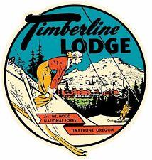 Timberline Lodge  Mt. Hood Oregon Natl. Park  Vintage Style Travel Decal Sticker