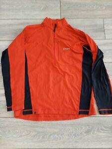 Berghaus XXL walking HikingTop lightweight Size  1/4 zip red black