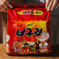 Nongshim Neoguri Spicy Hot Ramen Korean Noodle Soup 120g x 5