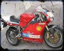 Ducati 998S Bayliss 2 A4 Photo Print Motorbike Vintage Aged
