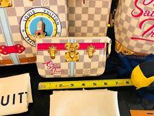 Saint Tropez MINI POCHETTE ACCESSORIES Louis Vuitton Damier Azur Bag Pouch Purse